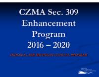 CZMA Sec. 309 Enhancement Program 2016-2020 (Jun 2015)