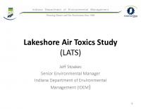 IDEM – Air Toxic Study (Aug 2013)