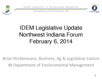 IDEM 2014 Legislative Update (Feb 2014)