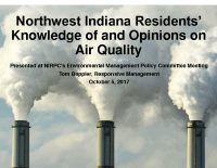 NWI Residents' Knowledge of & Opinions on Air Quality (Oct 2017)