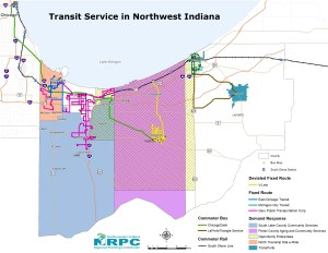 Transit Service in Northwest Indiana
