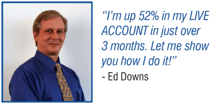 Ed Down CEO of Nirvana Systems is using RocketTrade and relative strength in his own personal live accoint