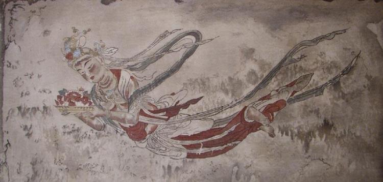 Tennin or a spiritual being in japanese