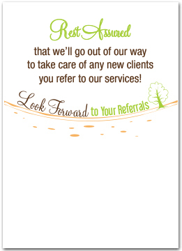 Ask For Business Referrals Business Greeting Cards