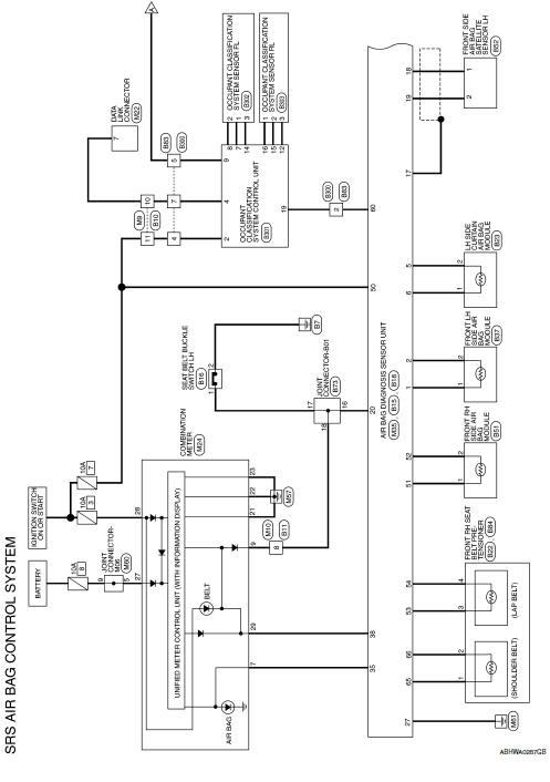 nissan sentra service manual wiring diagram  srs airbag