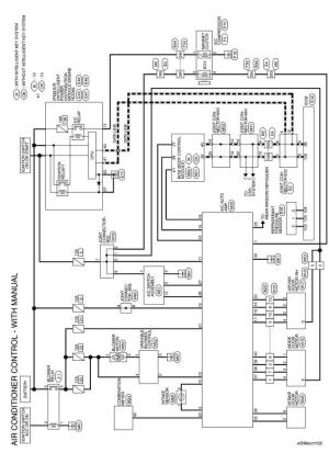 Nissan Sentra Service Manual: Wiring diagram  Manual air conditioner  Heater & air