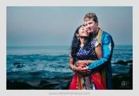 Sheetal & Josiah. Yarada Beach, Vishakapatnam, Andhra Pradesh. February 2014.