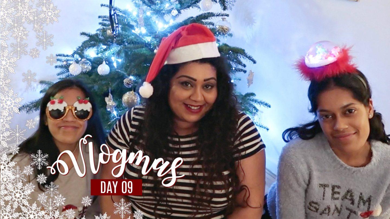 FAMILY CHRISTMAS DRINKS & DECORATING THE TREE / Nishi V Vlogmas Day 9