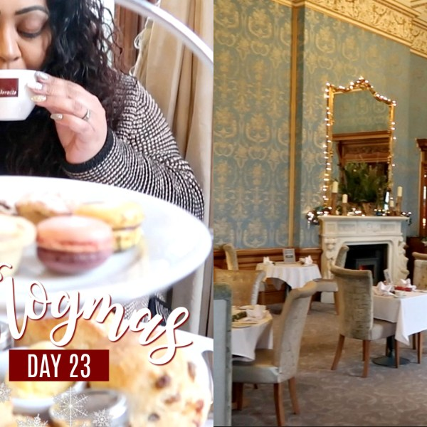 AFTERNOON TEA AT THORESBY HALL / Nishi V Vlogmas Day 23, www.nishiv.com, nishi v