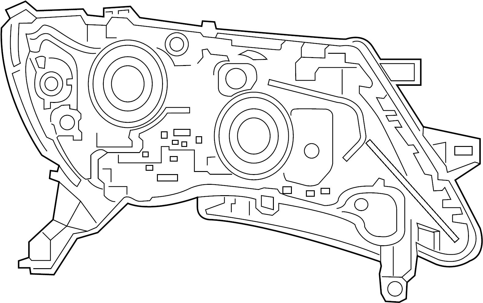 Nissan Pathfinder Headlight Assembly 19 Halogen