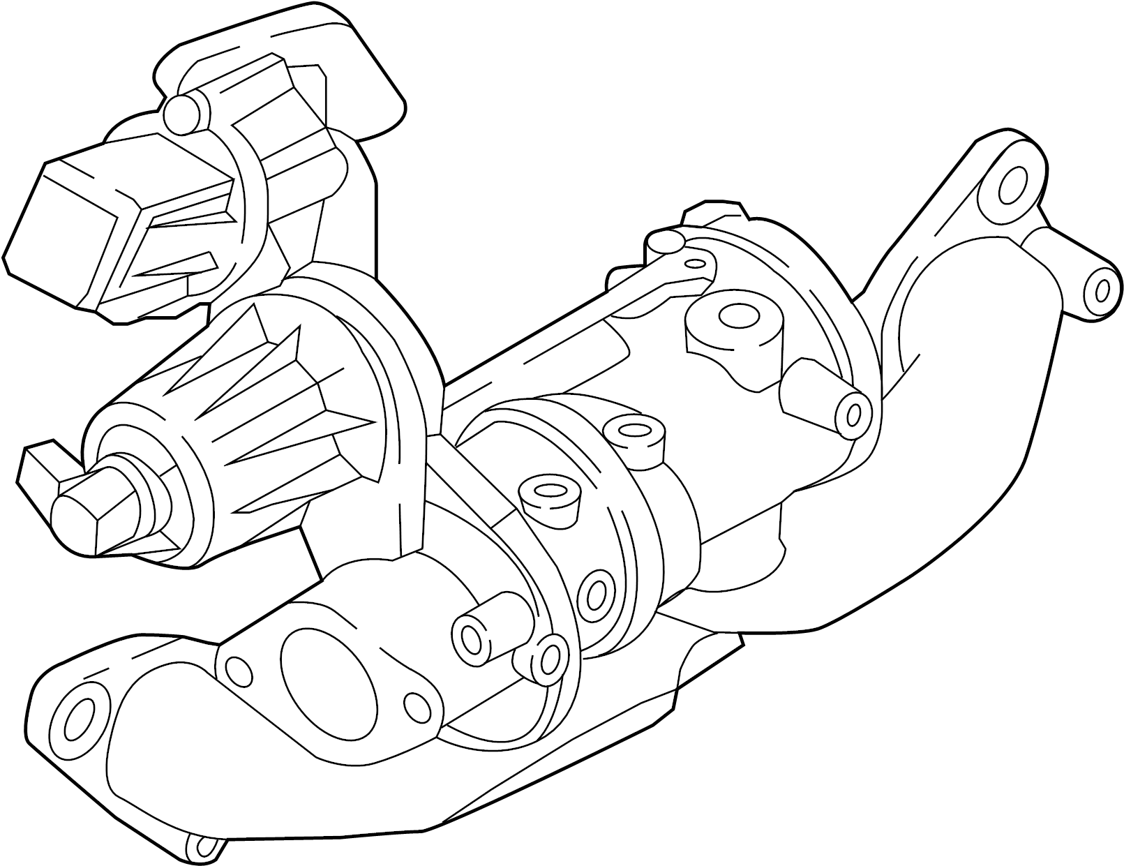Nissan Sentra Exhaust Manifold Turbo Charger