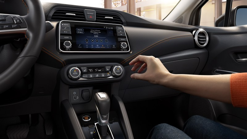 2020 Versa climate controls and display