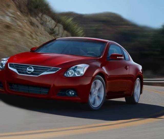 2013 Nissan Altima Coupe Side Profile In Cayenne Red