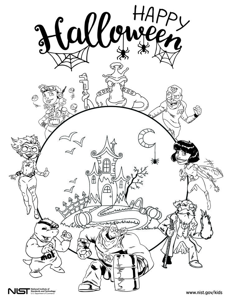 Superhero Coloring Pages NIST