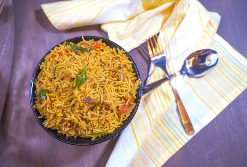 Tomato Rice   South Indian Style Rice with Step By Step Photos