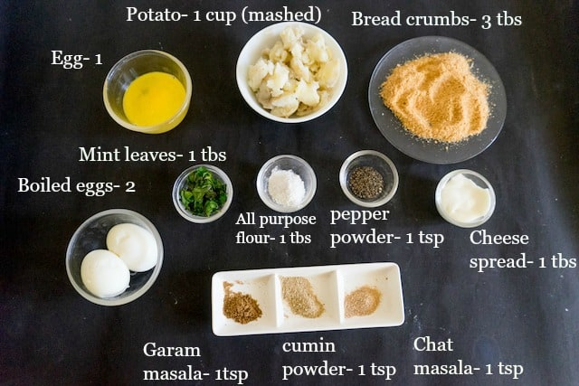 These all the ingredients for making egg croquettes.. so let start cooking!