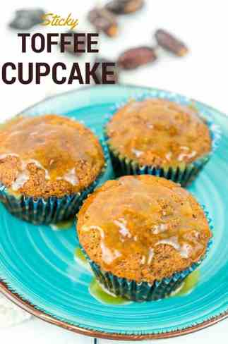 Sticky Toffee Dates Cupcake (Toffee Pudding Recipe)