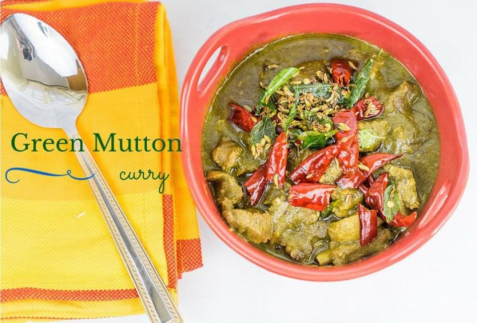 Green mutton chops recipe | mutton curry without coconut