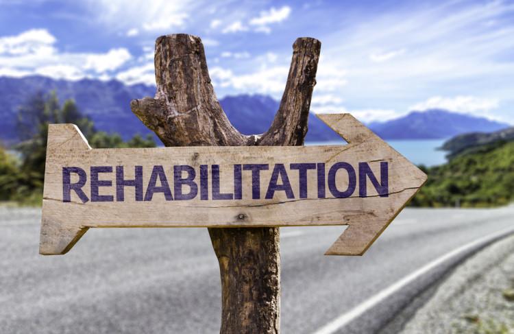 sign showing rehabilitation
