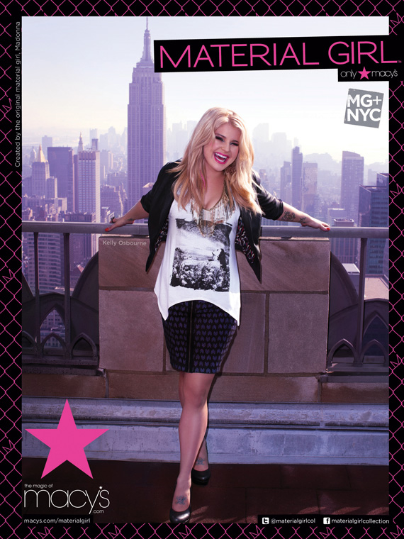 Kelly Osbourne x Material Girl for Macys Fall 2011 Ad Campaign