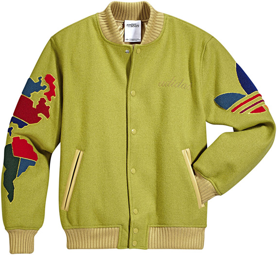 Jeremy Scott x adidas Original Globe Varsity Jacket