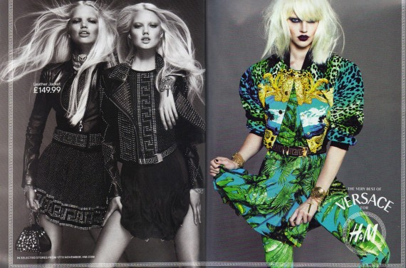 Versace for H&M Ads + Anna Dello Russo @ Paris Fashion Week