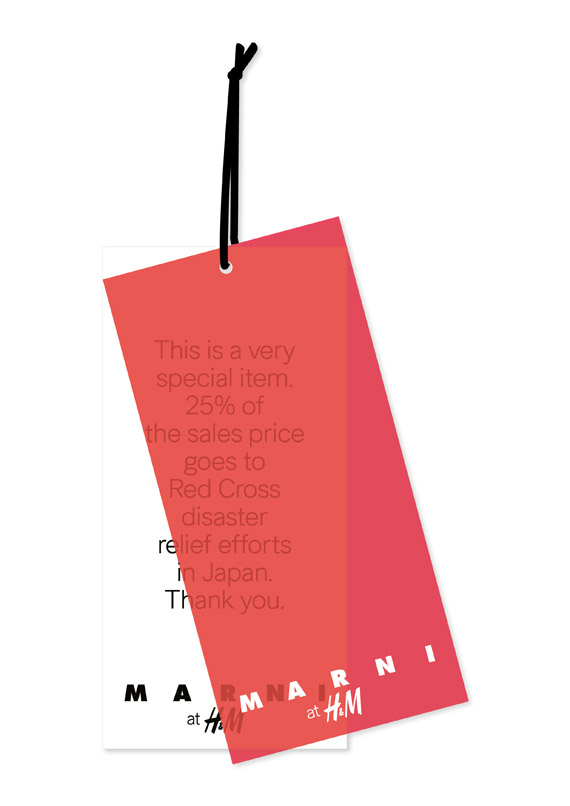 Marni at H&M T shirt for Japan Red Cross Society