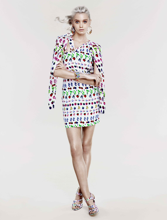 Versace for H&M Cruise 2012 Lookbook ft Abbey Lee Kershaw