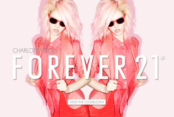 Charlotte Free for Forever 21 Spring 2012 Ad Campaign