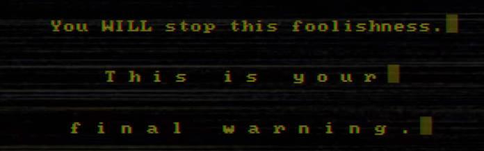 Iris Sagan NAIXATLOZ warning from AI The Somnium Files video screenshot