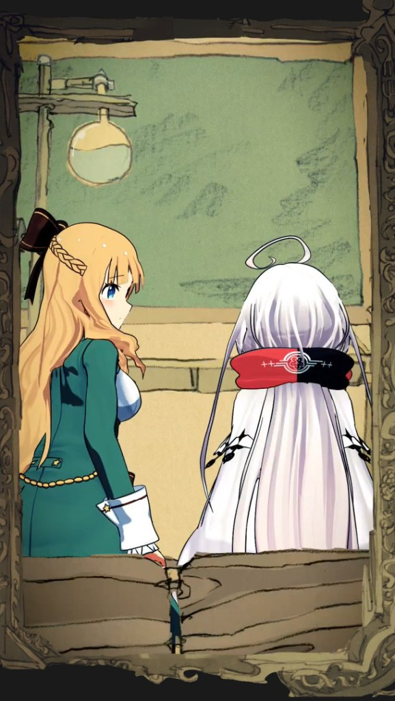 Characters Picatrix and Ars Notoria from Mobile RPG Warau Ars Notoria