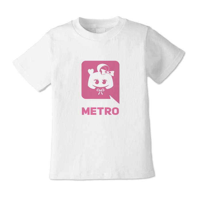 Takanashi Metro PARK Harajuku VIRTUAL REALI-T vol2 Shirt with pink discord logo with a bow and anime eyes