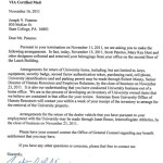 Paterno Termination Letter