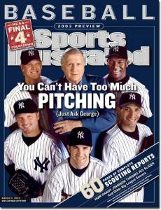 George Steinbrenner and his megabuck pitching staff in 2003.