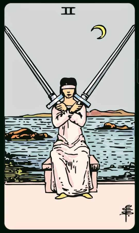 TWO Of SWORDS : 2 ดาบ