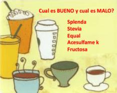 Splenda, Stevia, Fructosa o Acesulfame k