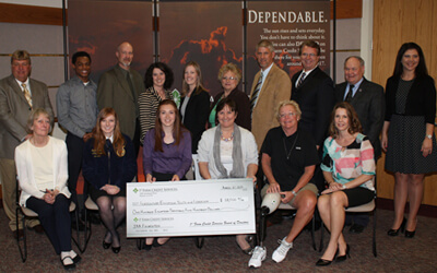 NIU's Sandra Streed (first row, far left) was among the 14 1st Farm Credit Services grant recipients for her work on the Local Food Planning and Technical Assistance program.