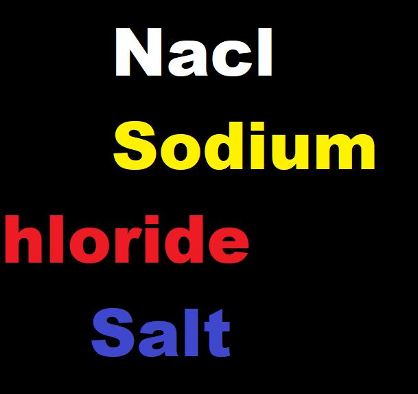 Nacl -Sodium Chloride-Salt