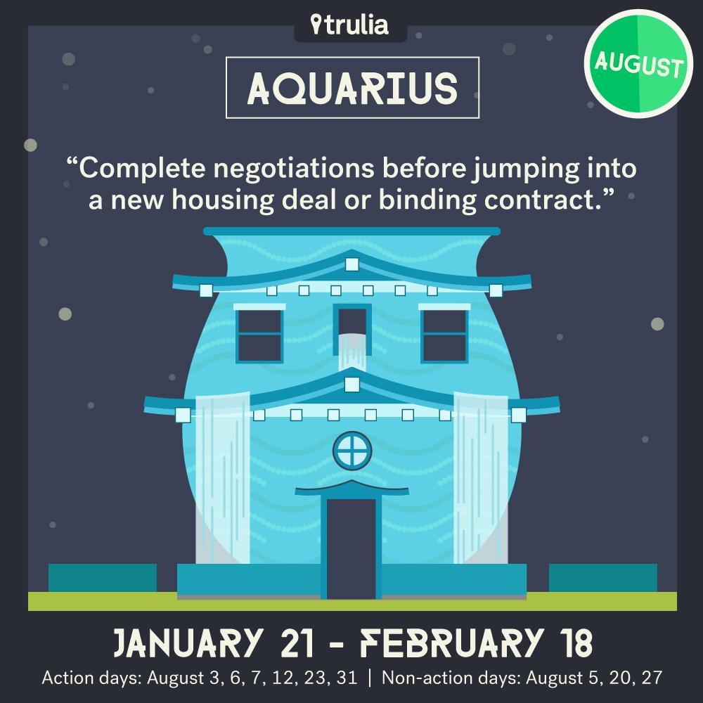 Trulia Money Horoscope August Aquarius