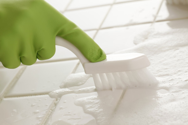 Cleaning Grout With Brush