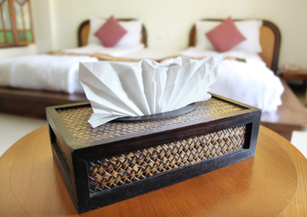 Tissue Box By Bed