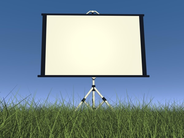 Outdoors Projector Screen