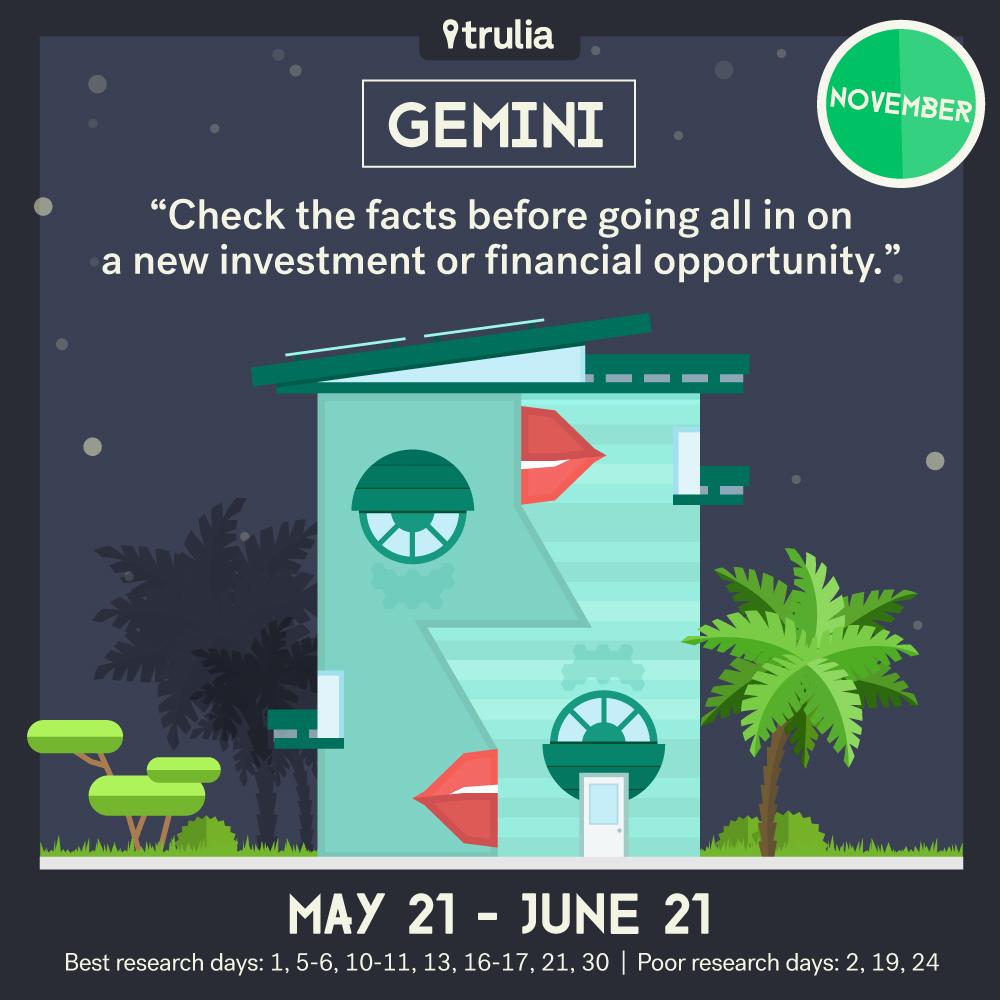 November Money Horoscope Gemini