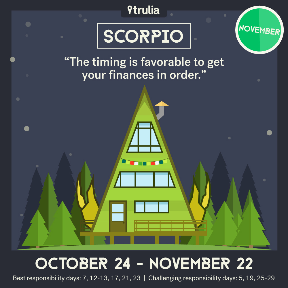 November Money Horoscope Scorpio