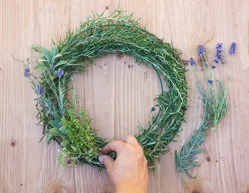 herbal wreath homemade air freshener