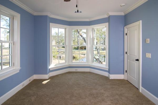Blue Walls White Trim