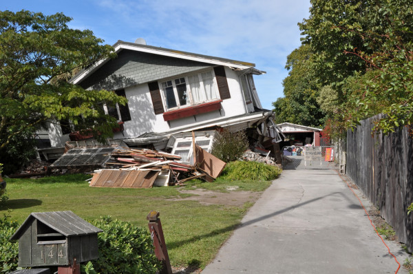 House Damaged In Earthquake