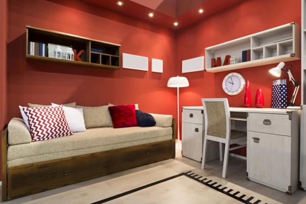 Red Teen Bedroom