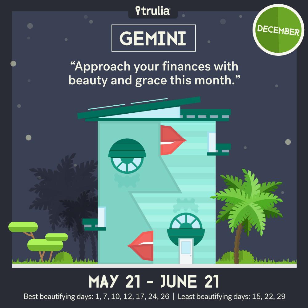 December money horoscope Gemini