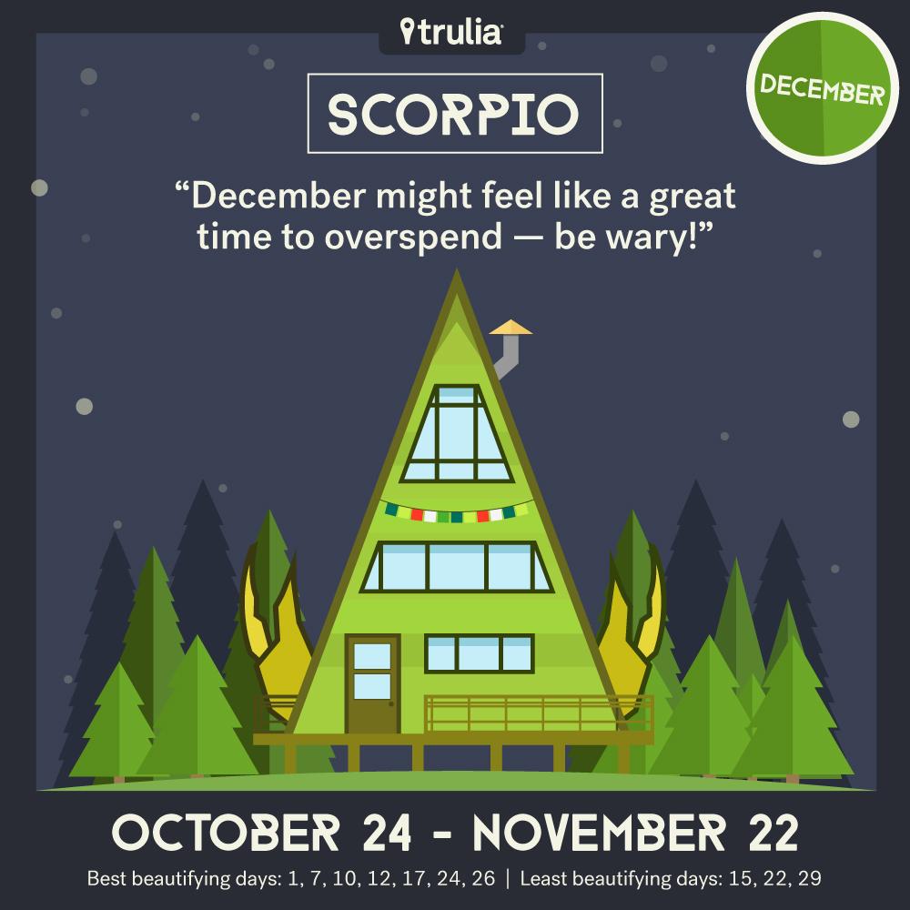 December money horoscope Scorpio